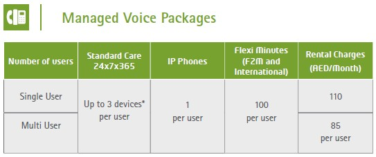 Etisalat Managed Voice Packages